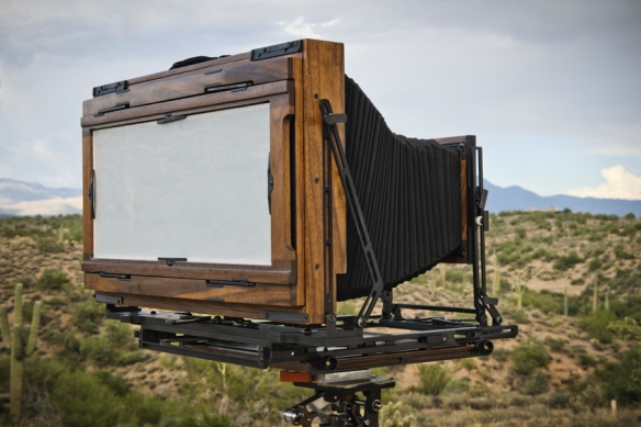 KB Canham 7 X 17 3/4 rear view<br />wood large format field camera