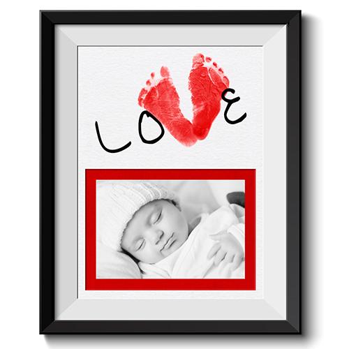 Valentine Foot Print