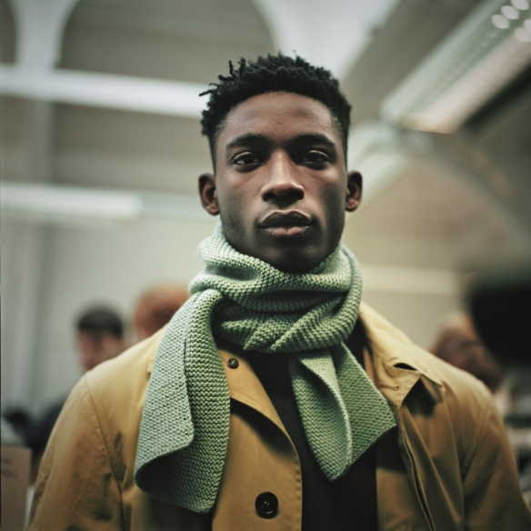 04 Model Backstage at Margaret Howell LCM AW15 SHAUN JAMES COX