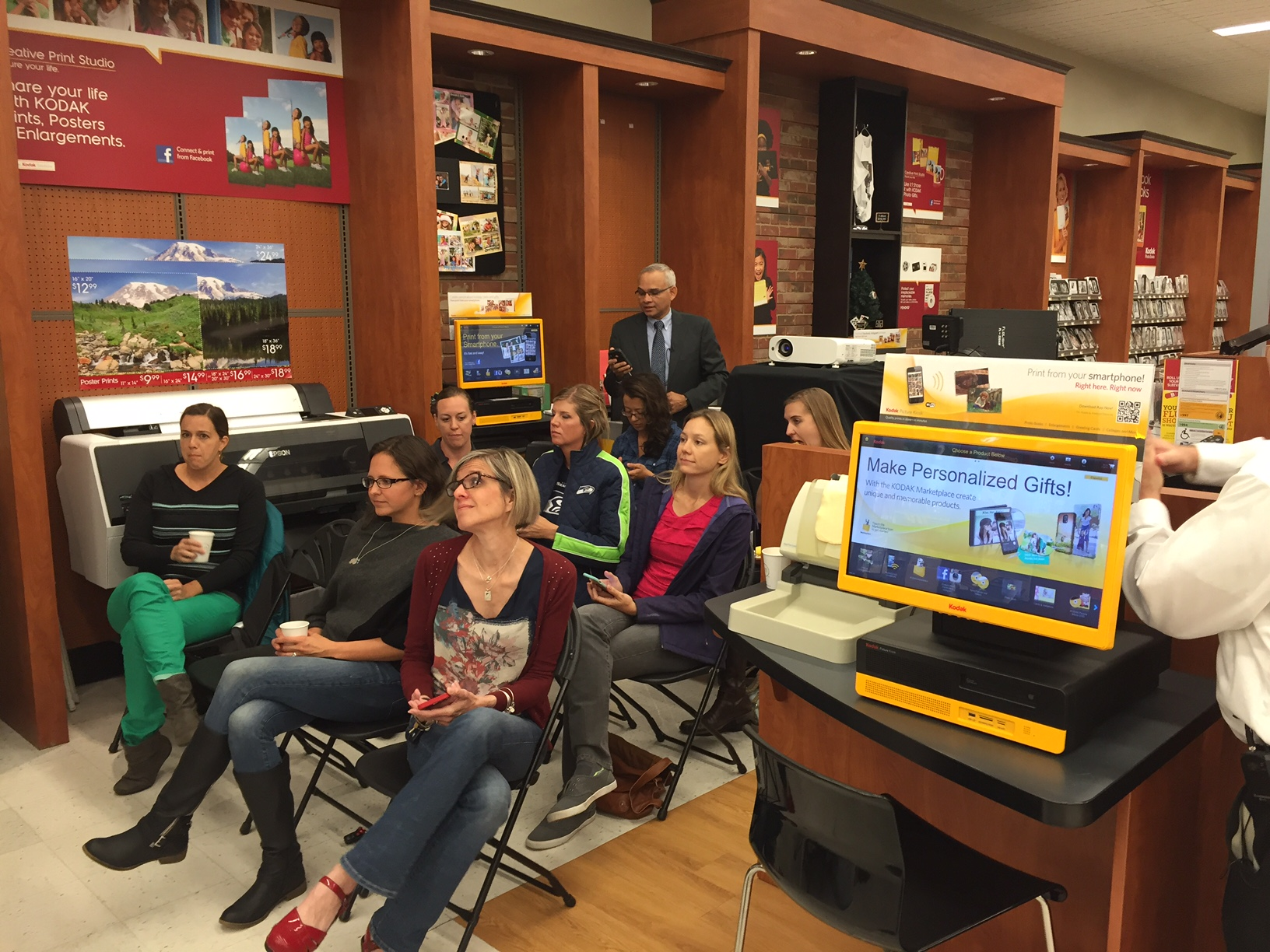 """We joined blogger """"I Am The Maven"""" at Bartell Drugs, to show mothers how to capture back-to-school photo memories using the new Kodak Moments app that will ..."""